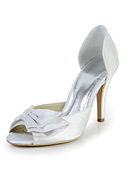 Great Satin Stiletto Heel Peep Toe Pumps with Bowknot Wedding/Special Occasion Shoes(More Colors)