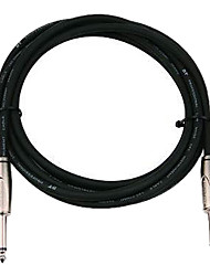 DT - (DFS220-6H) 6 Meters Guitar Cable with Plastic Plug (Soft Flexible Low attenuation Micro-bubbles)