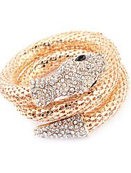 Gold Plated Alloy Zircon Snake Pattern Bracelet