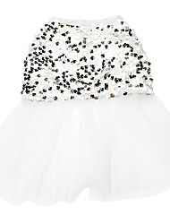 Cat / Dog Dress White Dog Clothes Spring/Fall Sequins Wedding
