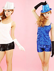 Performance Dancewear Cotton with Sequins Jazz Dance Top For Women(More Colors)