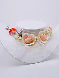 Elegante Satin und Alloy Hüte mit Blume / Tüll für Hochzeit / besondere Anlässe