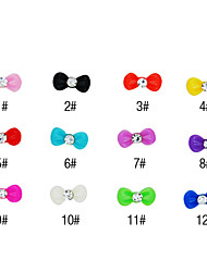 20PCS 3D Resin Rhinestone Bowknot Nail Decorations Cartoon No.2(Assorted Colors)