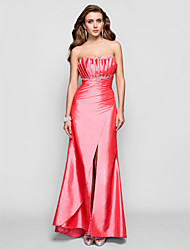 Formal Evening / Military Ball / Prom Dress - Watermelon Plus Sizes / Petite Sheath/Column Scalloped Floor-length Taffeta
