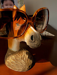 Funny Gift Hand Carving Wood Horse Shape Eyeglass Stand