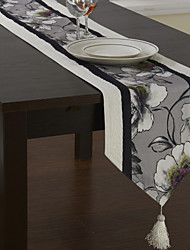 Traditionnels en polyester Impression florale Chemins de table rattache