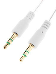 3.5mm Male to Male Audio Connection Cable White (1.0m)