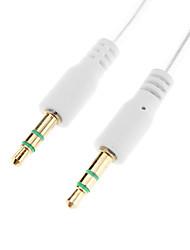 3.5mm macho a macho Cable de conexión de audio Blanco (1.0m)