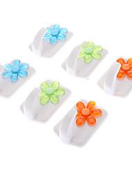 Цветочный узор слипчивый крюк Максимальная нагрузка 2,0 кг (2шт, Random Color)