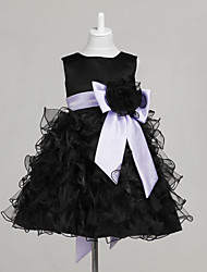 Engagement Party / Bridal Shower / Formal Evening / Wedding Party Dress - Black A-line / Ball Gown / Princess Jewel Knee-length Tulle