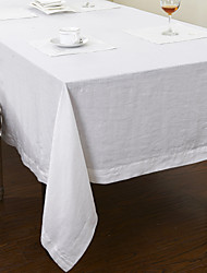 White Linen Rectangular Table Cloths