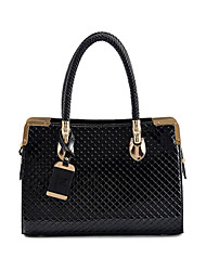 LEKENE Solid Color Diamond Check Tote