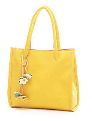 Fashion Leatherette With Flowers Casual/Shopping Top Handle Bag/Totes
