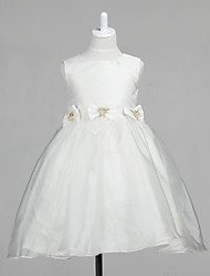 Lovely Sleeveless Tulle Wedding/Evening Flower Girl Dress With Bows