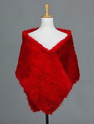 Fur Wraps Shawls Faux Fur Ruby Wedding / Party/Evening / Casual
