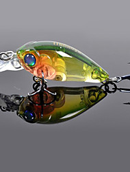 1 pcs Hard Bait / Crank / Fishing Lures Hard Bait / Crank Black / Green / White / Yellow / Blue / Red / Random Colors g/1/8 oz. Ounce mm/