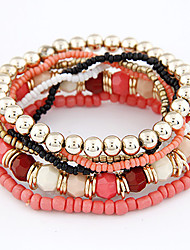 Women's Bohemian Style Multi-row Beaded Bracelet(Assorted Colors) Jewelry