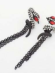 Liga de moda com strass Brincos em forma de serpente