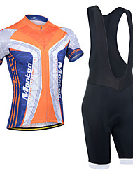 Monton Praising Life Men's Lycra Excellent Breathability Cycling Suits(Tops + Bib Shorts) with Cushion and Reflective Stripe