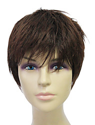 Capless High Quality Synthetic Short Black Straight Hair Wigs