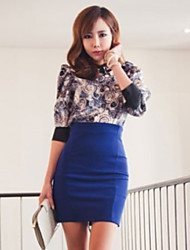 Women's Zipper Bodycon Skirt