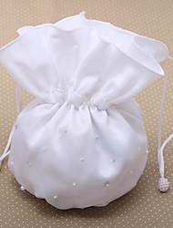 Elegante Hochzeits-Geldsack mit zerstreuten nachgemachte Perlen