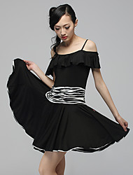 Dancewear Fashion Viscose Ruffles Latin Dance Outfits for Ladies(More Colors)
