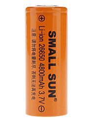 Pequenas dom 26650 3.7V 4800mAh recarregável Li-ion