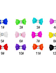 20PCS 3D Resin Rhinestonebowknot Nageldekorationen Cartoon No.3 (verschiedene Farben)