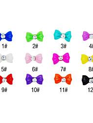 20PCS 3D resina strass bowknot unhas decorações de desenhos animados No.3 (cores sortidas)