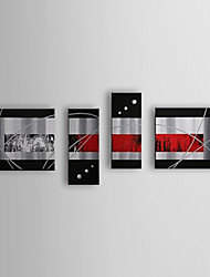 Hand Painted Oil Painting Abstract Set of 4 1307-AB0517