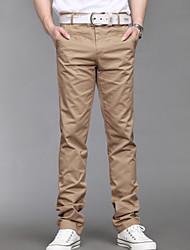 Sólidos pantalones rectos de color de los hombres