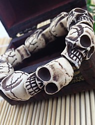 Schedel kralen armband