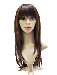 Capless Synthetic Fiber Mixed Color Long Straight Hair Wig