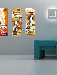 Stretched Canvas Art Vintage Place Your Text Set of 3