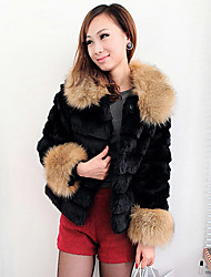 3/4 Sleeve Collarless Faux Fur Party/Casual Jacket(More Colors)