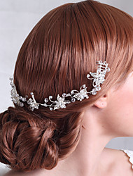 Luxurious Alloy Flowers with Rhinestone Wedding Bridal Headpieces