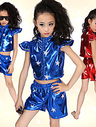 Jazz Performance Dancewear Beautiful Patent Leather Jazz Dance Outfits For Children(More Colors)