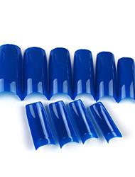 500 Pro Dark Blue French False Acrylic Nail Art Tips