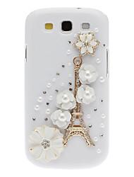 Bling Bling Edle Eiffel und Flower Design Hard Case mit Strass für Samsung Galaxy S3 I9300