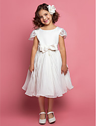 Chiffon Flower Girl Dress With Sash
