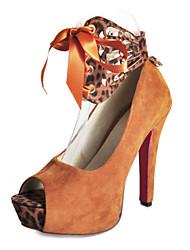 Платформа стилет каблук Пип-пальцы с изображениями животных партии / вечерние туфли
