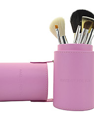 Make-up For You 7pcs Portable Pink Makeup Brush Set