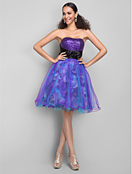 Dress Plus Sizes A-line/Princess Sweetheart Knee-length Tulle/Sequined