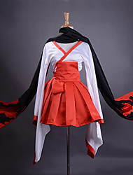 Inspired by Inu x Boku SS Ririchiyo Shirakiin Anime Cosplay Costumes Cosplay Suits / Kimono Patchwork Red Long SleeveKimono Coat / Skirt