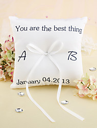 "Personalized ""You Are the Best Thing"" Wedding Ring Pillow"