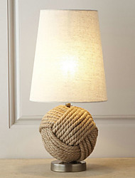 North America Style Minimalist Table Light Decorated With Twine Ball