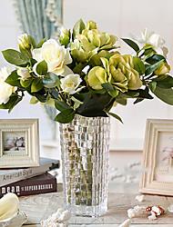 """17 """"h gardénia classique en verre vase arrangement"""