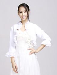 Elegant 3/4 Sleeve Chiffon Bridal Wedding Wrap/Evening Jacket (More Colors) Bolero Shrug