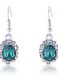 Lureme®Vintage Crystals  Emerald Earrings